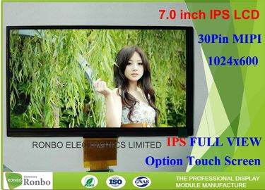 Transmissive Type Custom 7 Lcd Screen , Ips Display Screen 1024 x 600 Resolution Mipi Interface